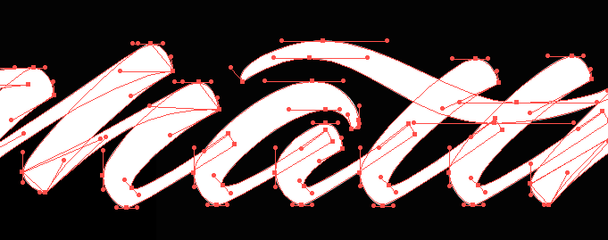 Sample Project: My first name as a signature logo - image 11 - student project