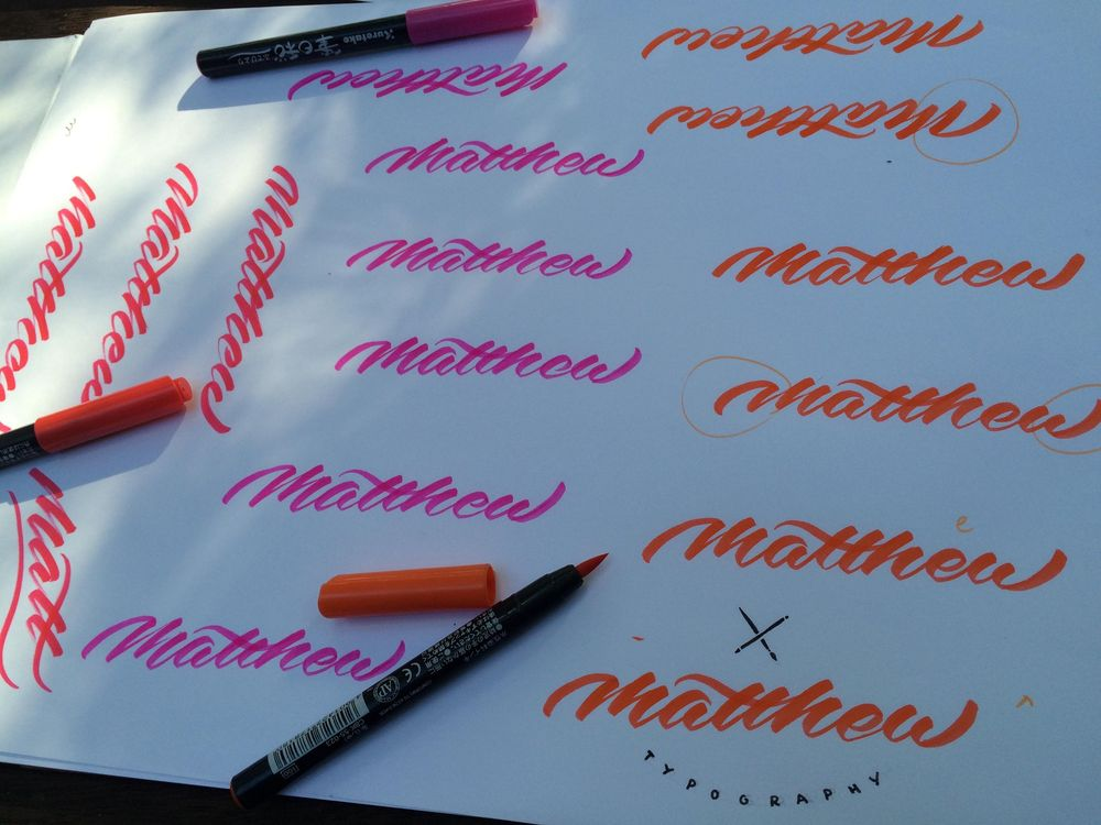 Sample Project: My first name as a signature logo - image 6 - student project