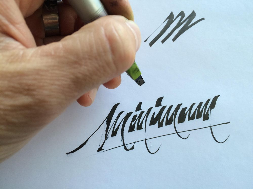 Sample Project: My first name as a signature logo - image 2 - student project