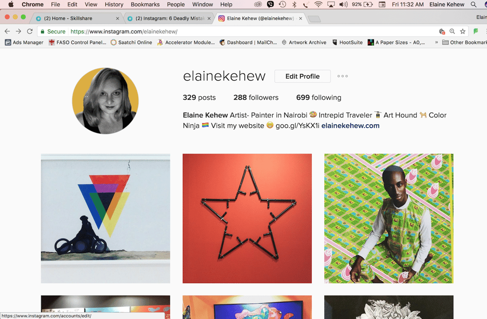 Elaine Kehew Instagram Bio - image 1 - student project