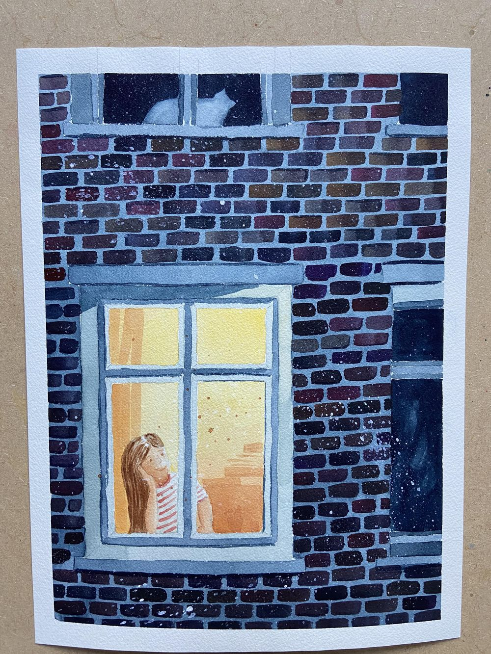 Window (ink and watercolour) - image 2 - student project
