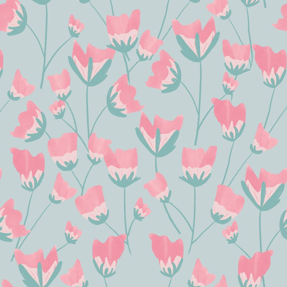 Flowers pattern - image 1 - student project