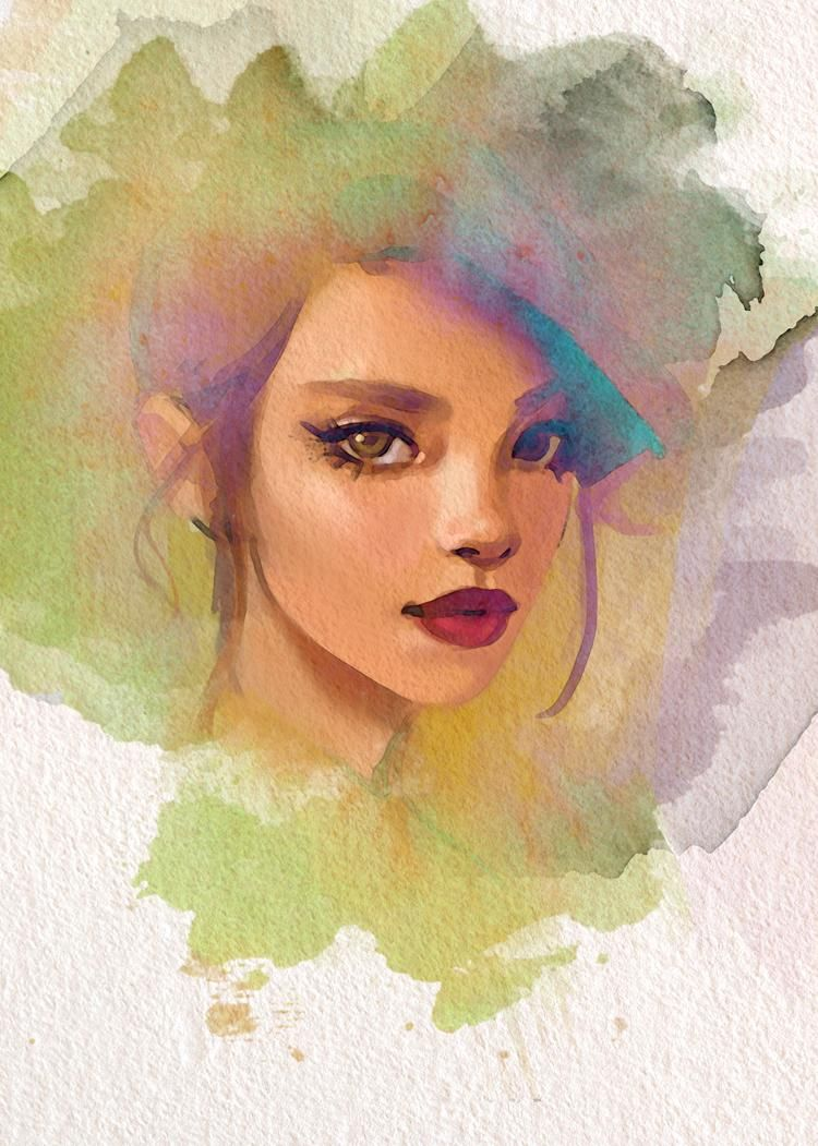 Digital Painting to Watercolor - image 2 - student project