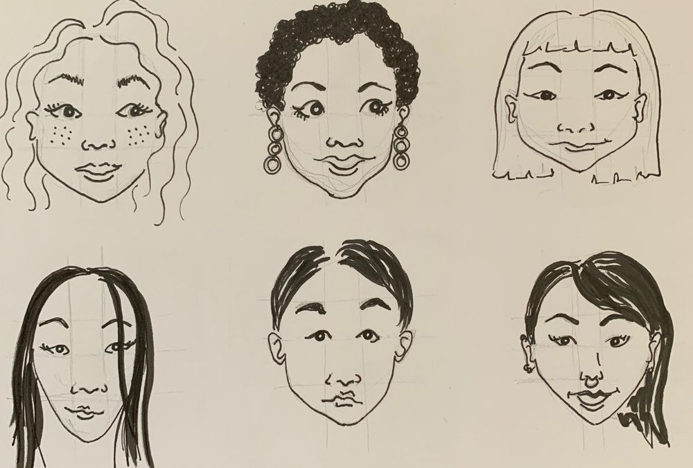 Painting/drawing little faces - image 1 - student project