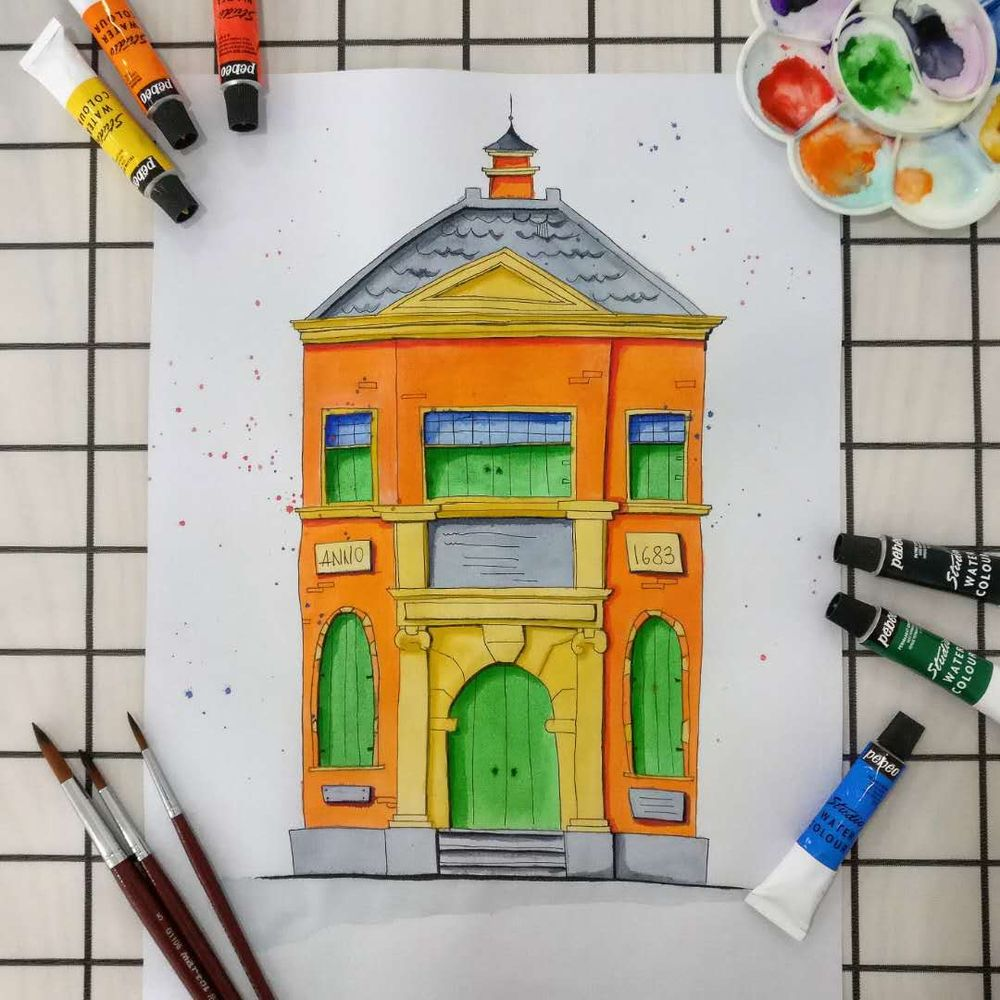 Urban Sketching for Beginners: Watercolour Sketch in 3 Steps - image 2 - student project