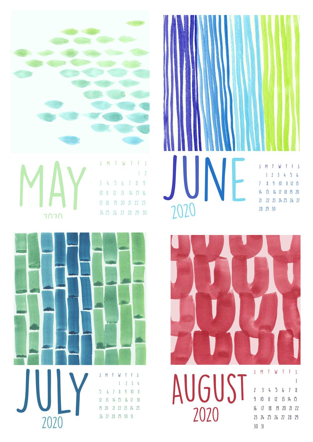 2020 Watercolor Calendar - image 1 - student project