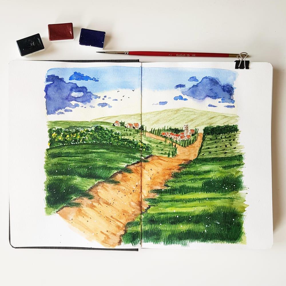 Tuscanian landscape - image 1 - student project