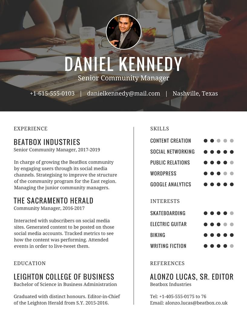 Final Project - Resume - image 3 - student project