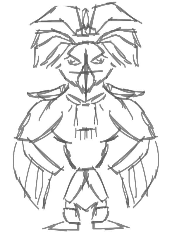 Maya God  hawk and warrior girl (project in progress) - image 5 - student project