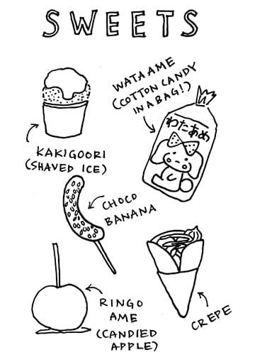 Japanese Summer Festival Foods Zine! - image 10 - student project
