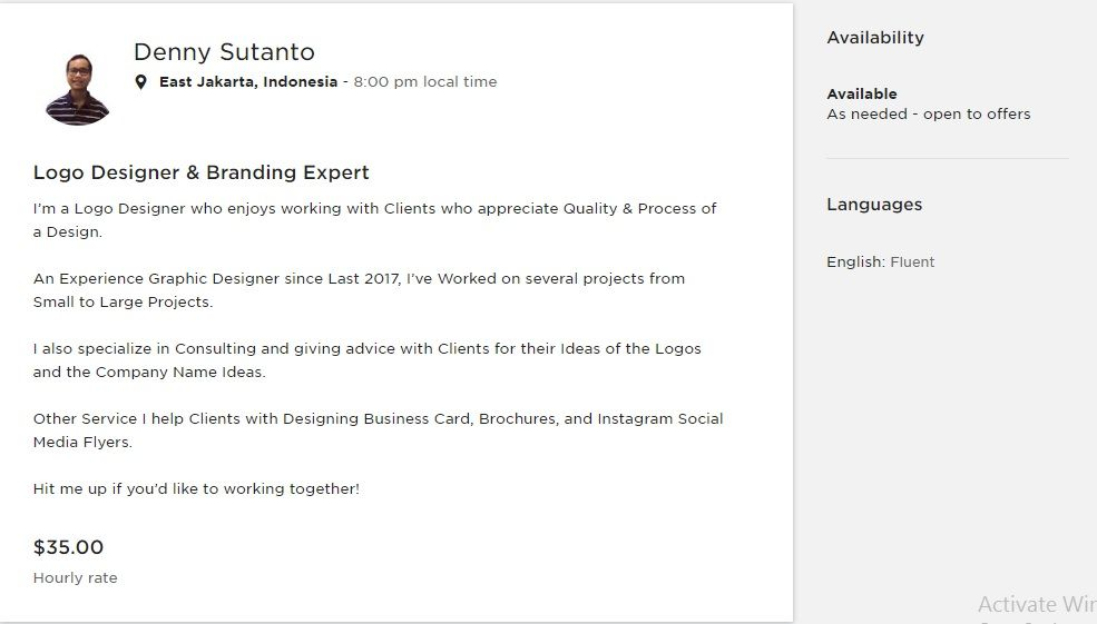 My Upwork Profile - image 1 - student project
