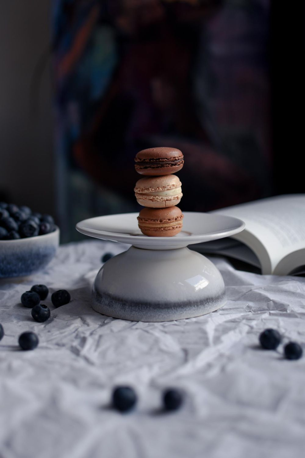 Macarrons & Blueberries - image 2 - student project