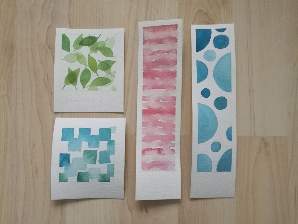 Watercolour patterns - image 1 - student project