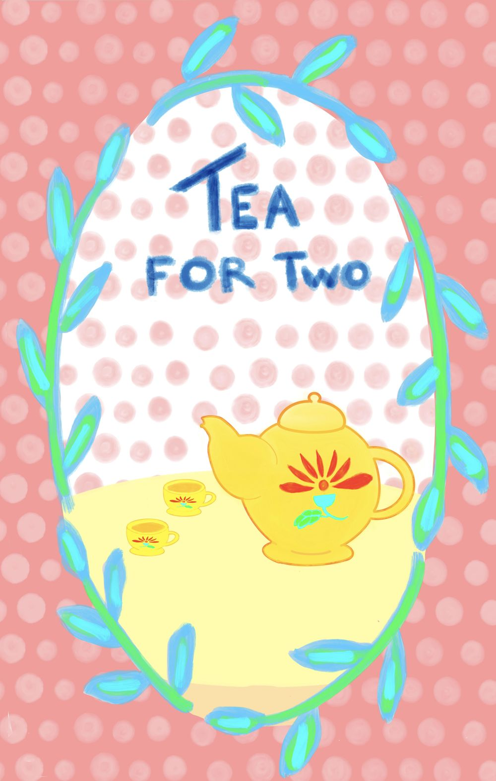 Spoonflower and tea towel - image 2 - student project