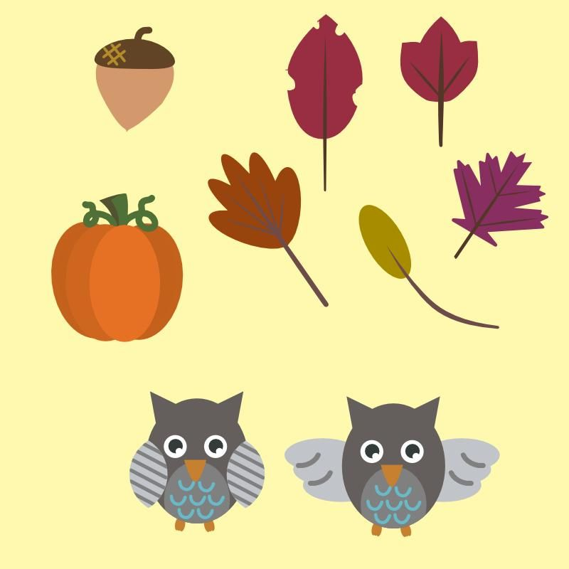 Fall clipart - image 1 - student project