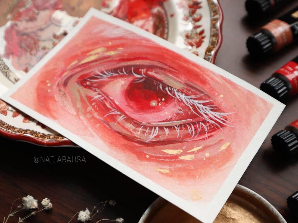 Gouache Eye - image 2 - student project