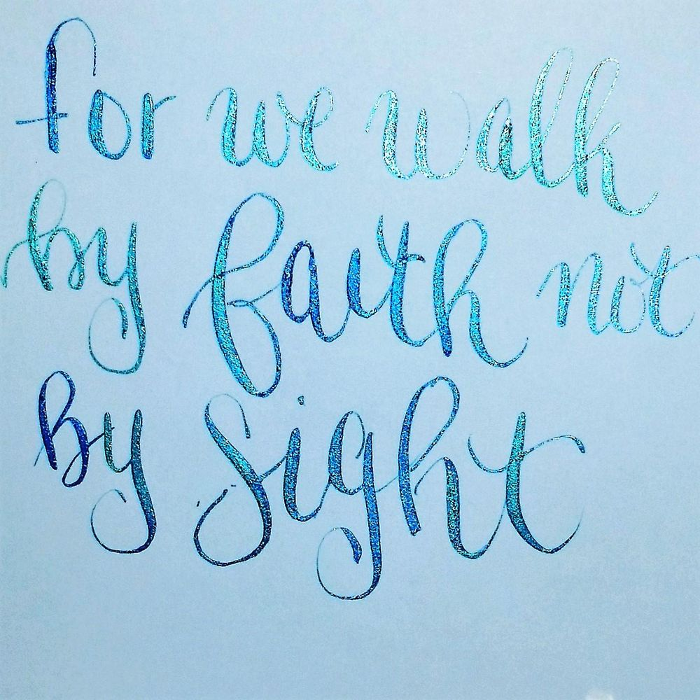 modern calligraphy practic - image 1 - student project