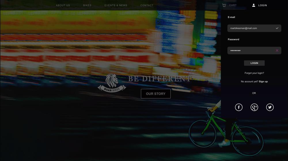 Roar Bikes - image 7 - student project