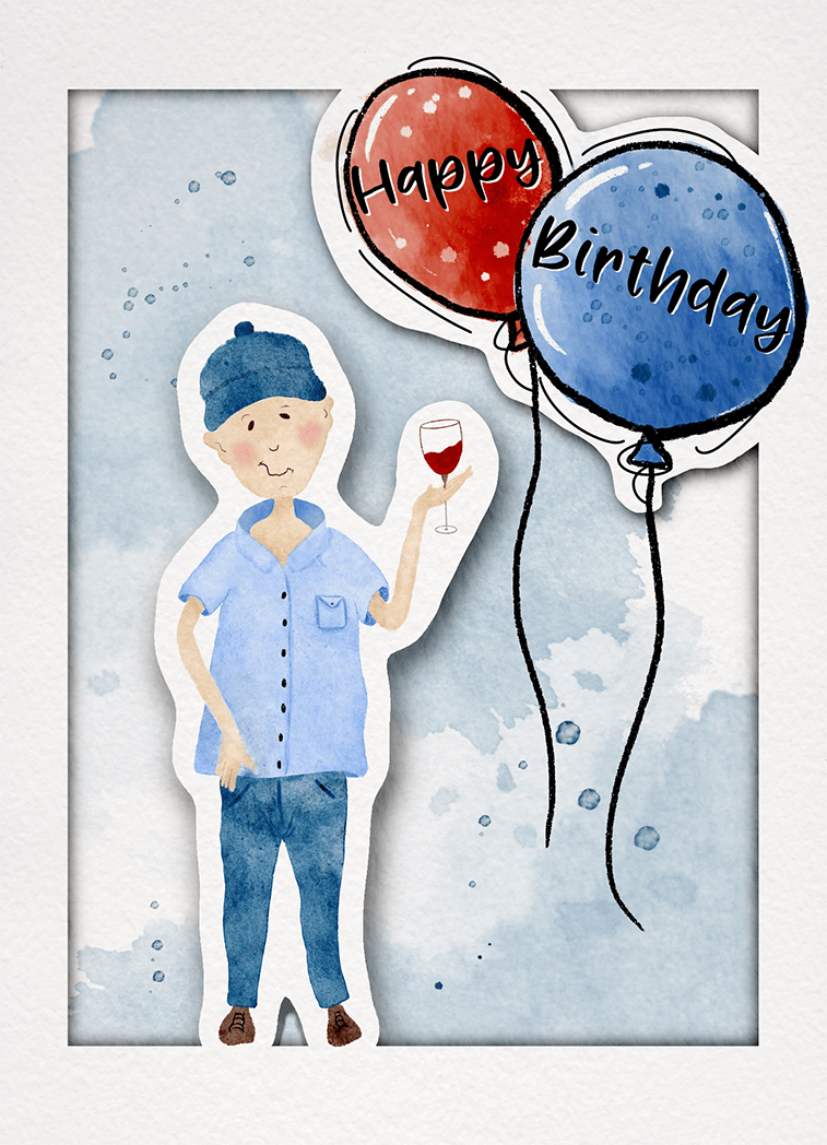 Birthday card - image 2 - student project