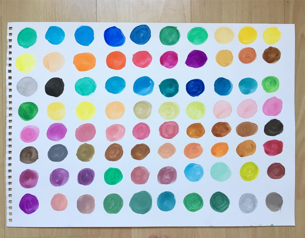 Exploring colours (intuitive mixing + colour play) - image 2 - student project