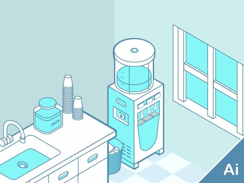 Isometric Office Corner - image 1 - student project