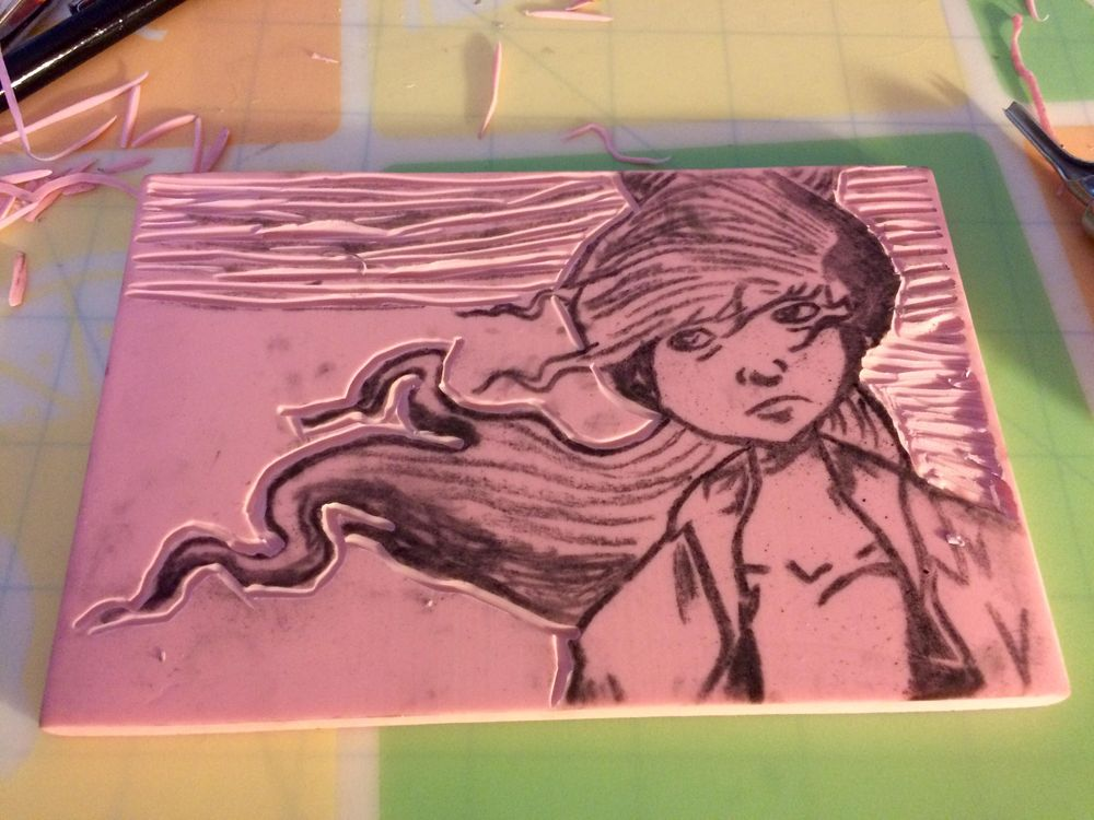 My 4x6 Block Print - image 1 - student project