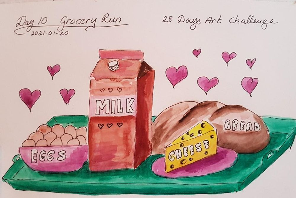 Annette  K. 2021-01-11 start. Self-Care 28-Day Art challenge. - image 5 - student project