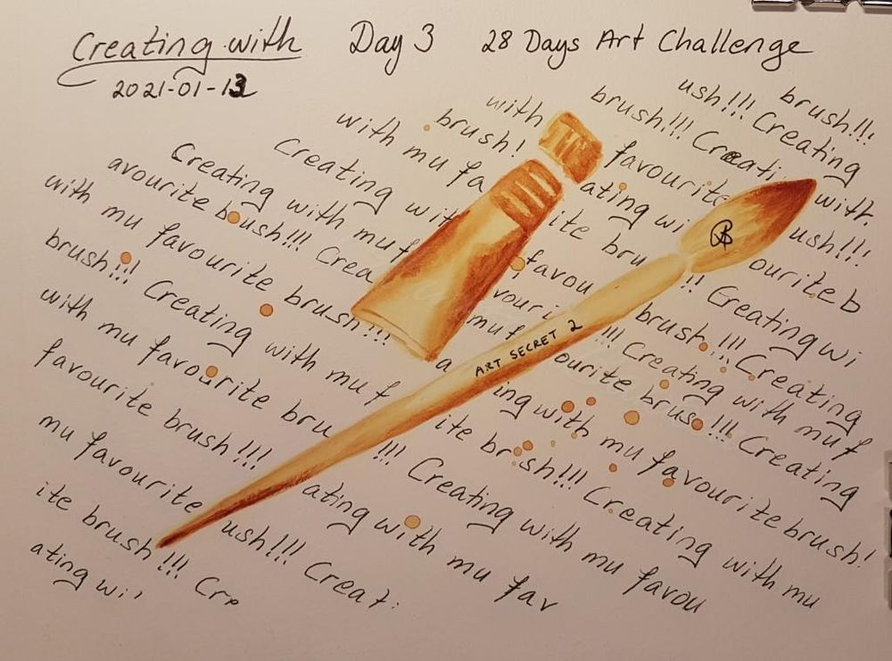 Annette  K. 2021-01-11 start. Self-Care 28-Day Art challenge. - image 13 - student project