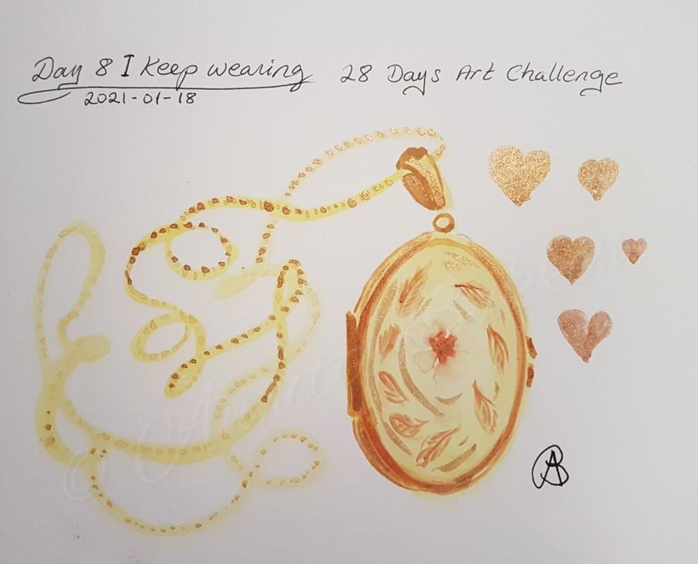 Annette  K. 2021-01-11 start. Self-Care 28-Day Art challenge. - image 7 - student project