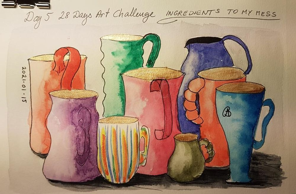 Annette  K. 2021-01-11 start. Self-Care 28-Day Art challenge. - image 10 - student project