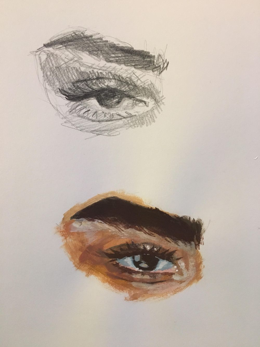 gouache eyes - image 2 - student project