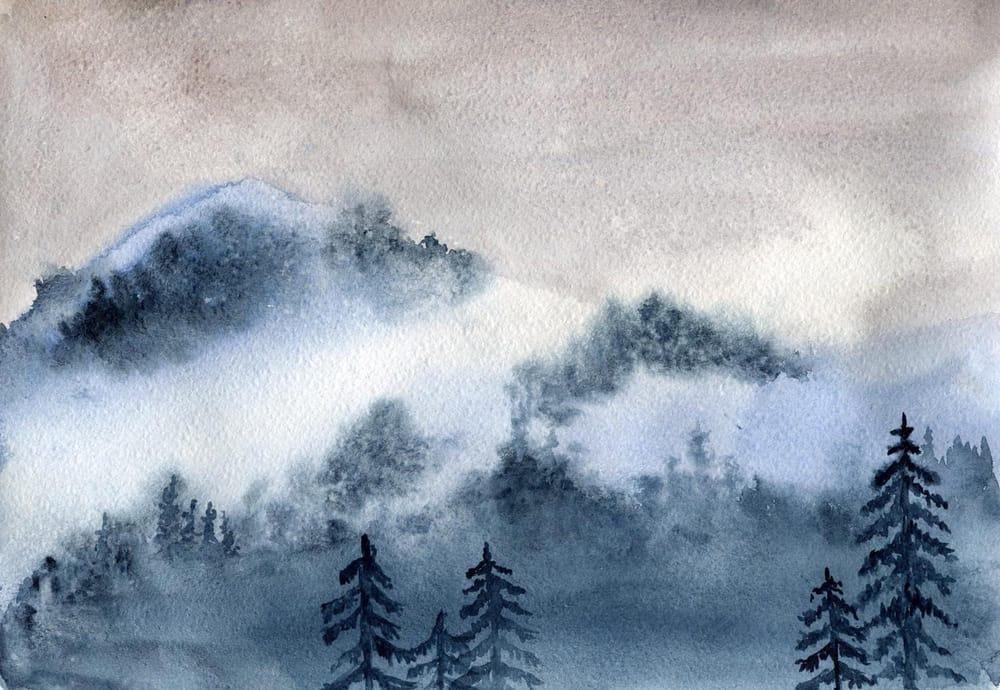 Watercolor Mist Landscape - image 1 - student project