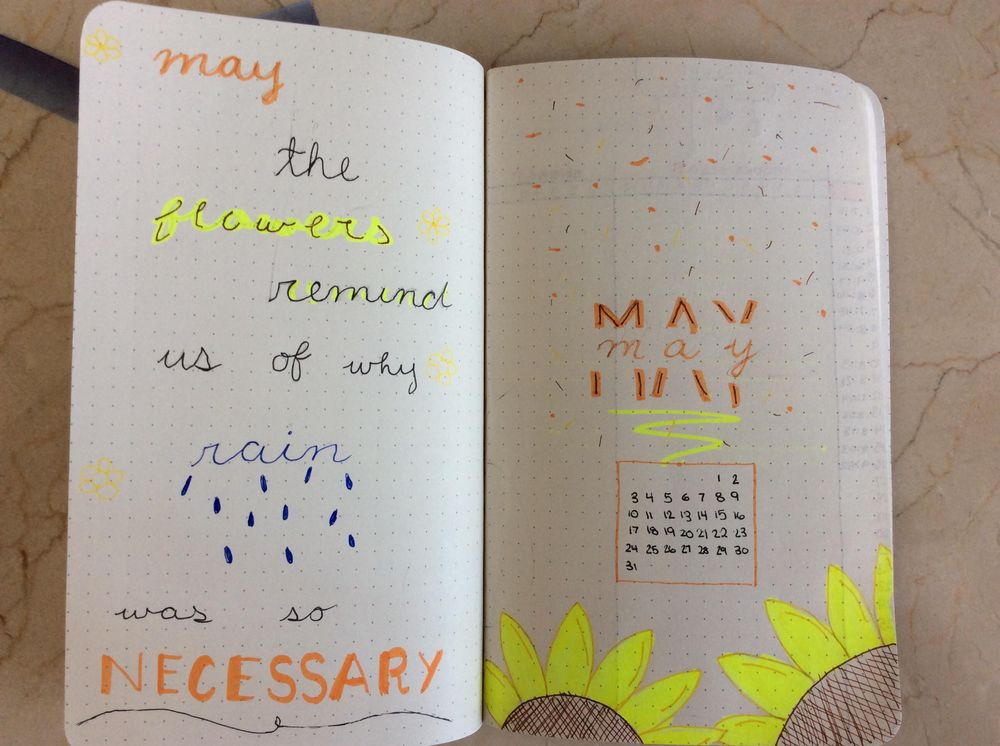 May Title Page + Weekly Spreads - image 1 - student project