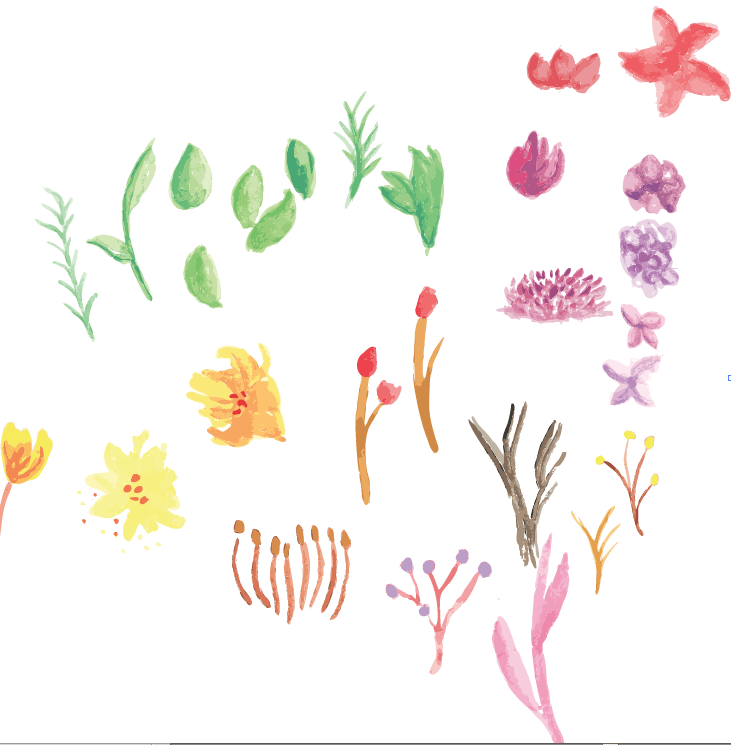 Watercolor flowers - image 2 - student project