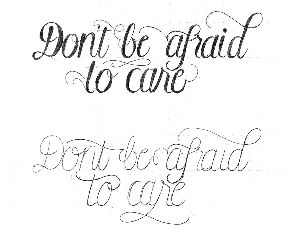 Don't be afraid to care - image 2 - student project