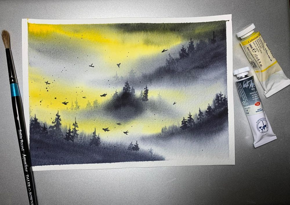 Misty mountains - image 7 - student project