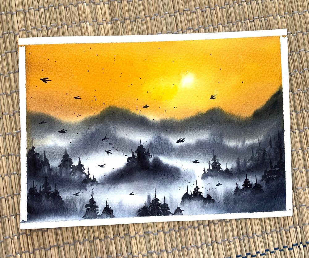 Misty mountains - image 2 - student project