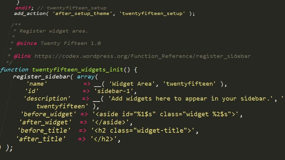wordpress php code - image 1 - student project