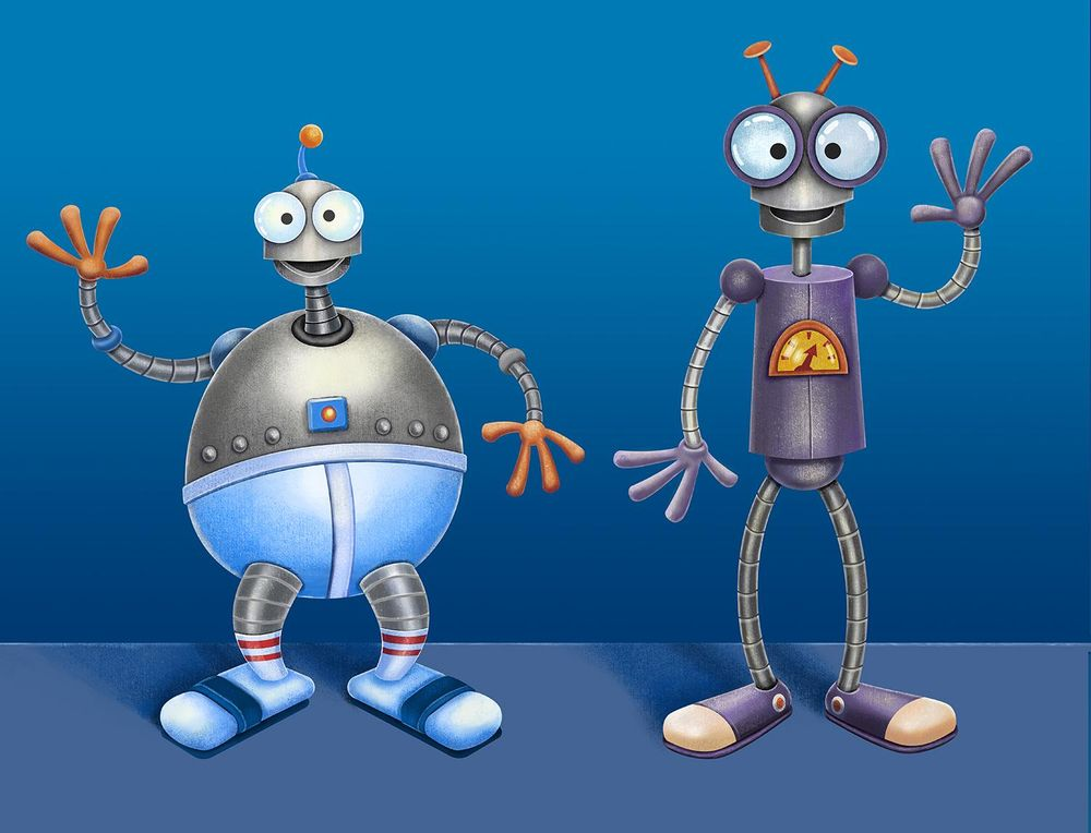 Two friendly robots - image 1 - student project