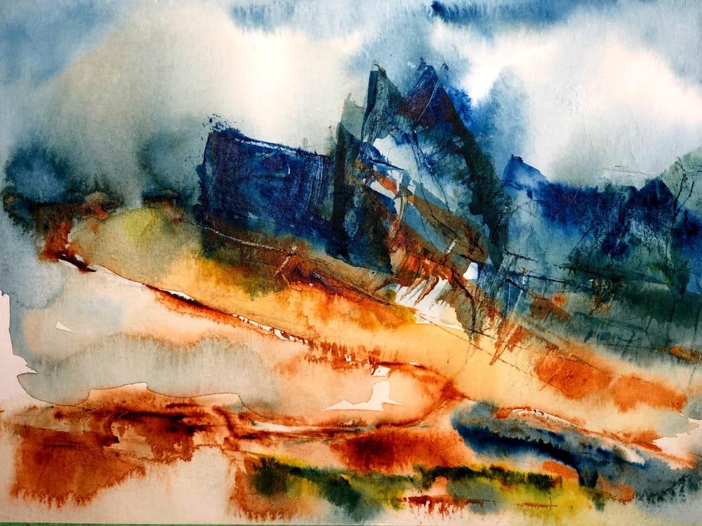 Watercolor Mountain Landscape Textures - image 3 - student project