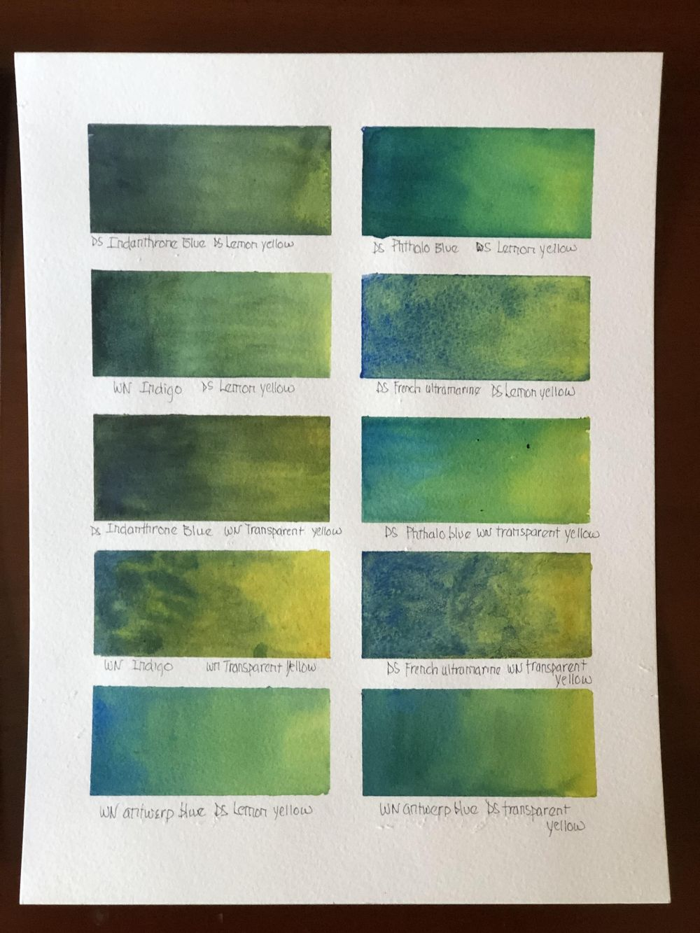 Mixing Watercolor Greens - image 1 - student project