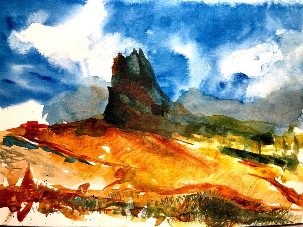 Watercolor Mountain Landscape Textures - image 1 - student project