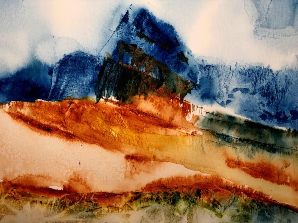Watercolor Mountain Landscape Textures - image 4 - student project