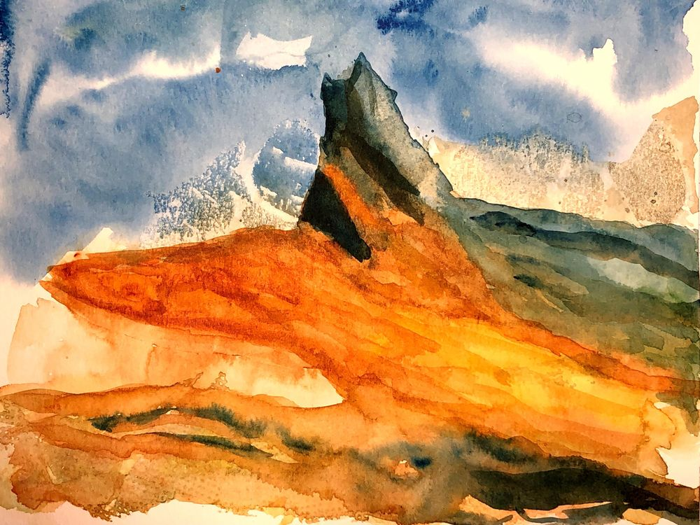 Watercolor Mountain Landscape Textures - image 2 - student project