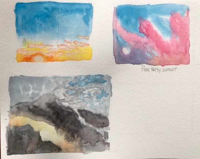 Painting Watercolor Sky and Clouds - image 3 - student project