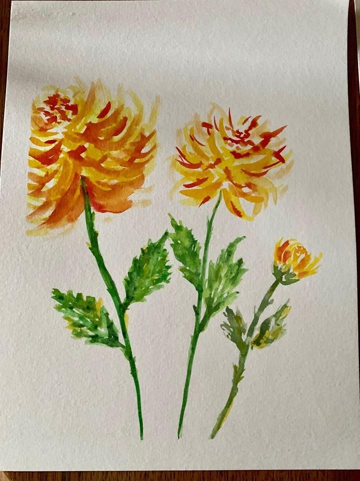 Beautiful Watercolor Florals - image 3 - student project