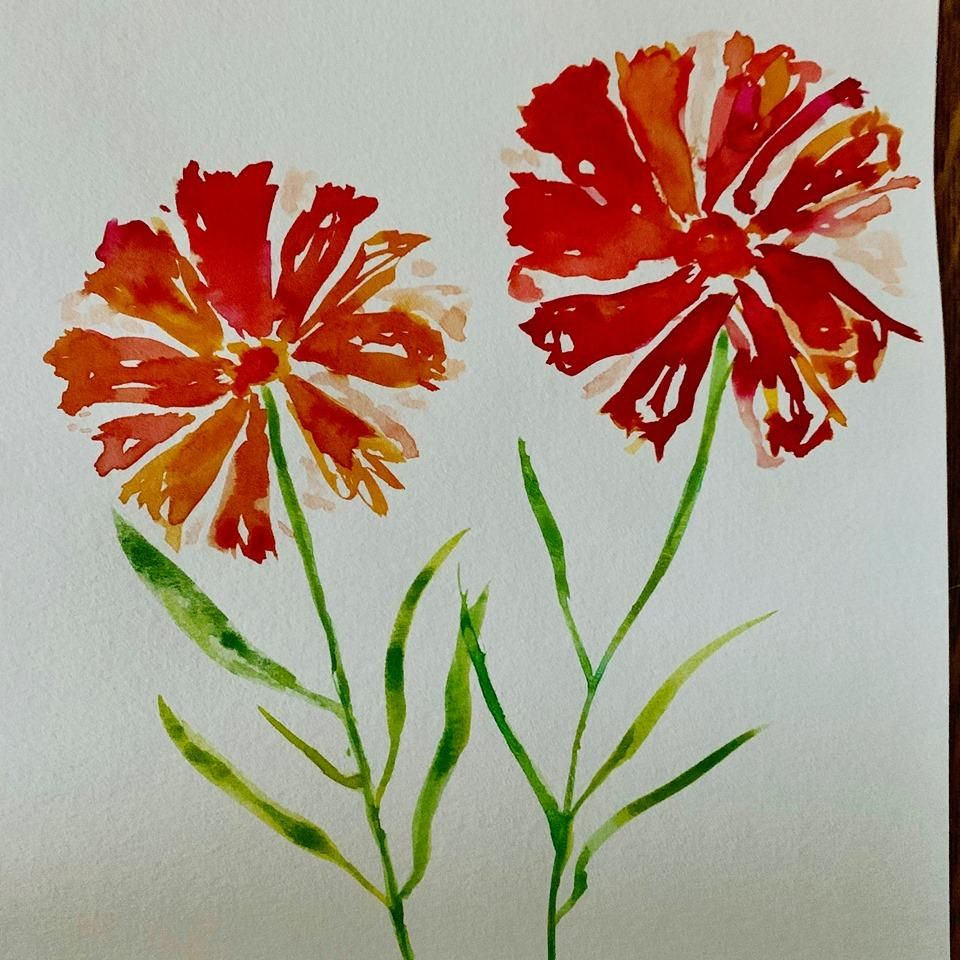 Beautiful Watercolor Florals - image 1 - student project