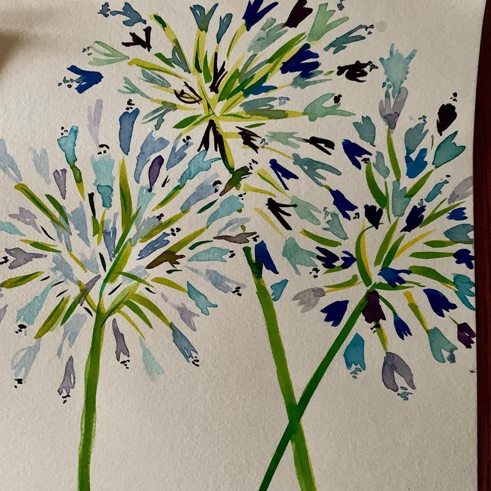 Beautiful Watercolor Florals - image 2 - student project