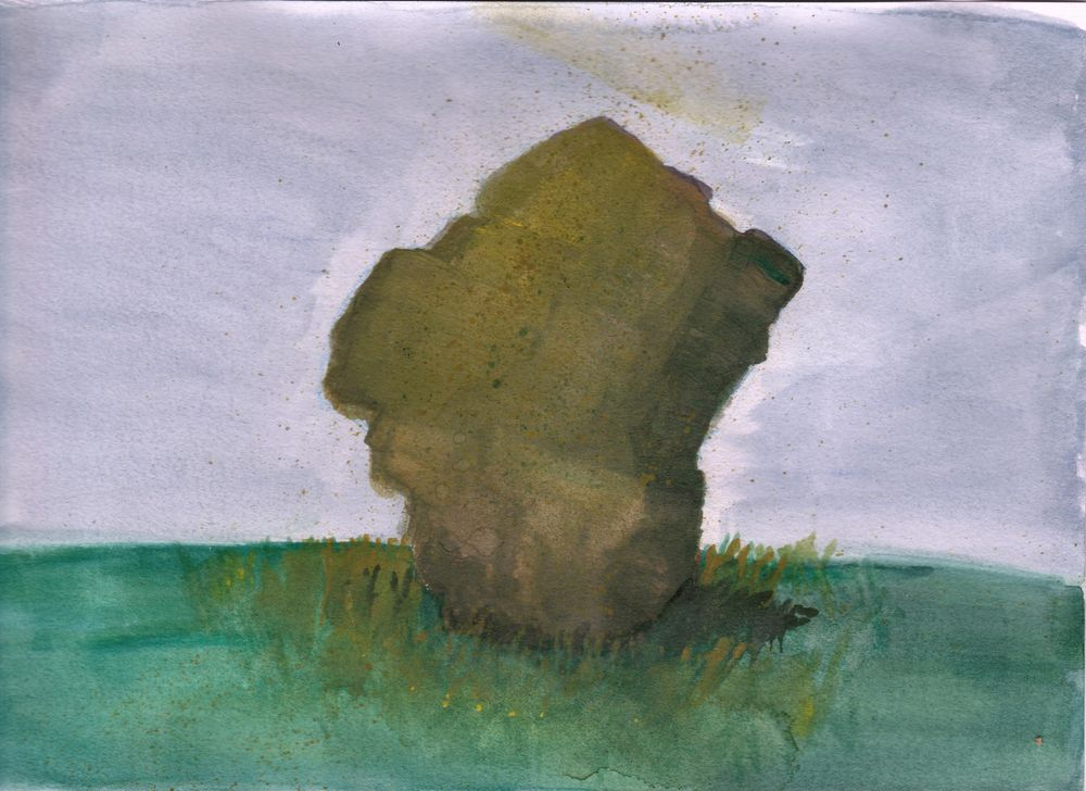 rocks in watercolor and gouache - image 3 - student project