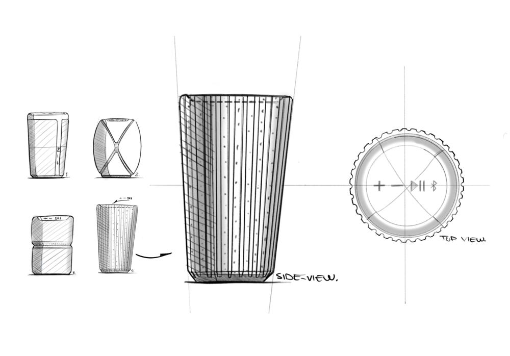 Waterproof Bluetooth Speaker Concept - image 3 - student project
